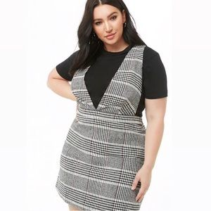 Brand new plus size houndstooth pinafore dress